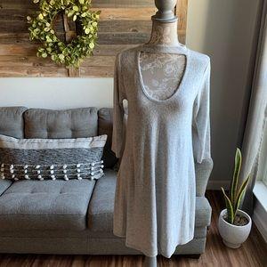 Acemi Neck Cutout Sweater Dress